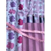 Farbstiftrolle Hippo rosa